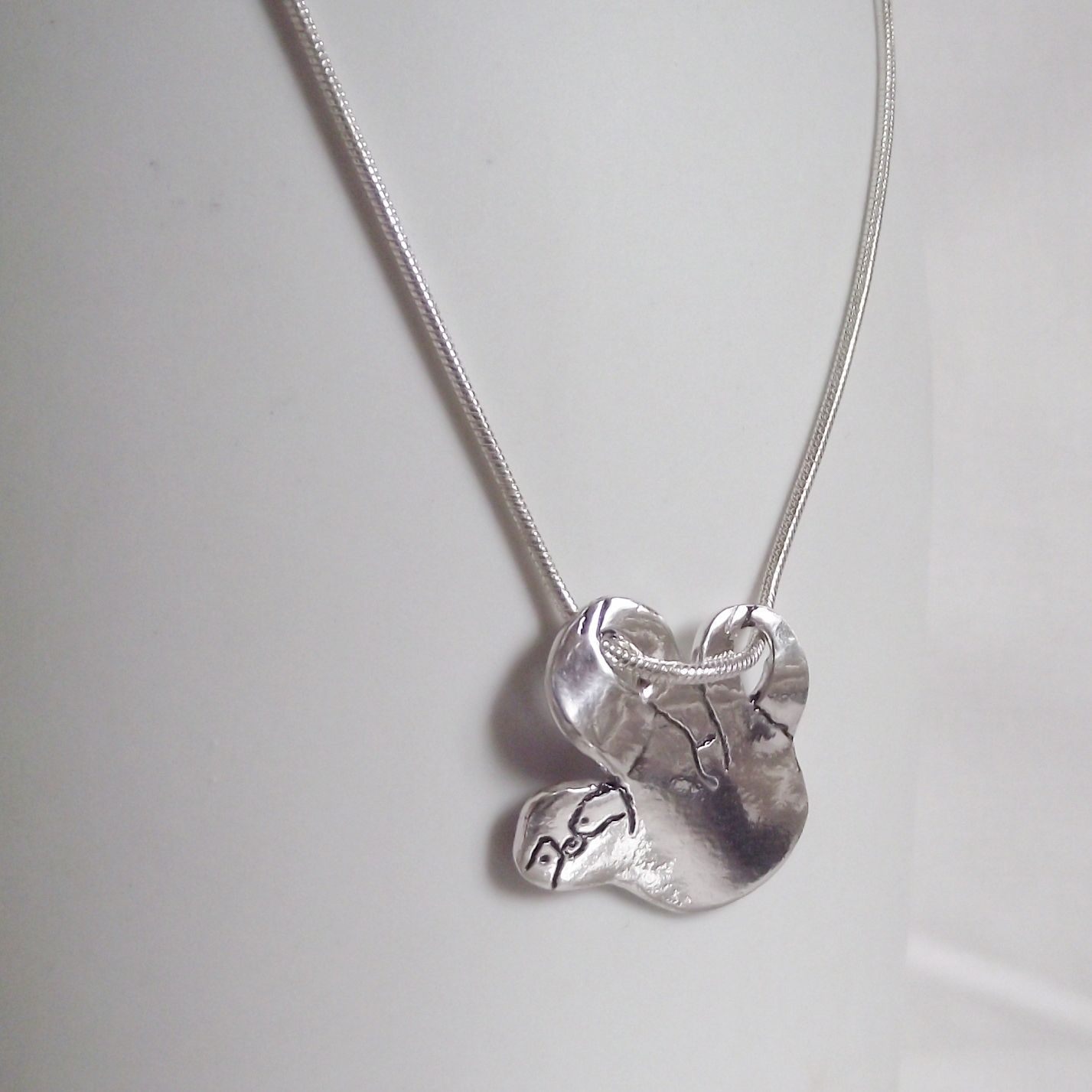 solid silver sloth ebay necklace unique handmade pendant hanging jewellery s itm stunning